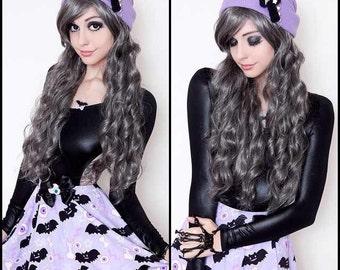 Creepy Cute Eyeball Bat Skirt, Eyeball Skirt, Bat Skirt, Pastel Goth Skirt