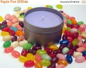 MOVING SALE Jelly Bean, Scented Soy Candle, Easter Candle, Scenterd Soy Wax Candle, 4 oz Jelly Bean Scented candle