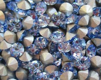 48 pp32 Light Sapphire ss17 Swarovski Light Sapphire Chatons Art 1028 Swarovski 4mm Light Sapphire 32pp Light Sapphire Demi Fins