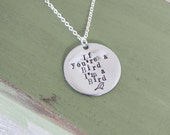 If You're a Bird I'm a Bird Necklace, The Notebook Inspired Jewelry, Valentines' Day Gift, For Girlfriend, Wife, Best Friend