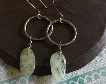 release earrings.  aquamarine