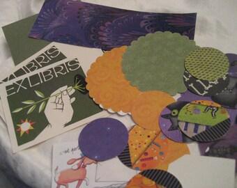Lot of Paper Scrapbooking Halloween Orange Purple & Greens Collage Paper Empherema