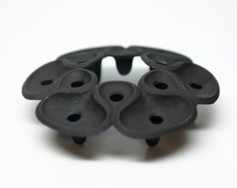 Vintage Dansk Cast Iron Candle Holder by Jens Quistgaard - Tapered candles - Mid-Century - Lotus