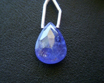 RESERVED - Top Grade Tanzanite Faceted Drop - Focal - 12x16mm