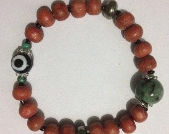 ON SALE Raksha Dze Eye Yoga Bracelet for Protective Power