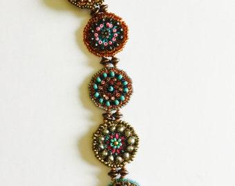 Colorful Medallion Bracelet