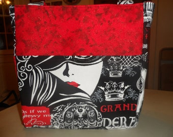 black red white opera lady gates bag/purse/ diaper bag