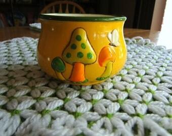 Kitschy Vintage Mushroom Pot