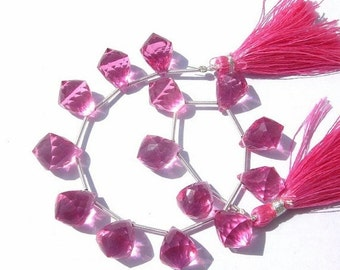 55% OFF SALE 7.5 Inches - AAA pink Quartz Faceted Fancy Chandelier Size 14x10mm 13 Pcs 6 Matched Pair n a Focal Pendant Finest Quality Whole