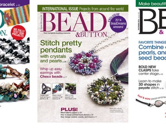 Bead & Button Beading Magazines - 2014 Issues fnt