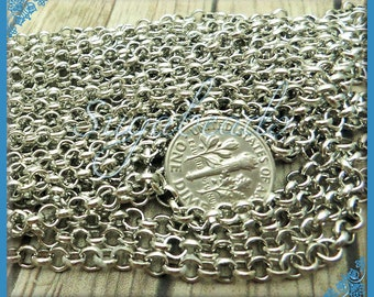 Bulk Silver Rolo Chain - Silver Tone Rolo Chain 16 feet - 5 Meters C8