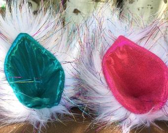 Unicorn Glitter Faux Fur Clip On Costume Ears