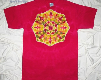 tie dye, medium tie dye mandala, tye dye shirt by grateful dan dyes, festival clothing, tiedye for men and women