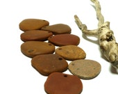Beach Pebble Pendants Lot Stones Bead Genuine Drilled Brown River Rock Large Stone Charm Dangles Men's Jewelry PAVERS