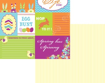 Easter Journal Cards Moxxie 12 x 12 Double Sided Scrapbook Paper