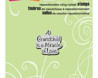 Grandchild Love Stampendous Cling Stamp