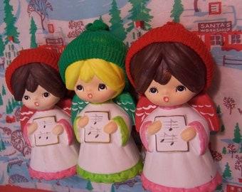 trio of ceramic angels
