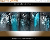 """Modern Wall Art 60"""" Original X Large acrylic Impasto painting home decor office decor Abstract """"Passion and Intuition"""" by QiQiGallery"""