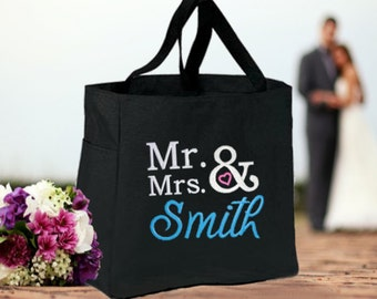 Bride Gift, Future Mrs, Bridesmaids, Maid of Honor, Mother of the Bride, Mother of the Groom, Bride's Bestie Personalized Tote