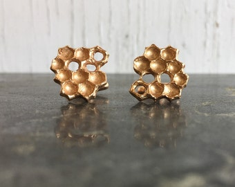 Honeycomb Cuff Links Bronze