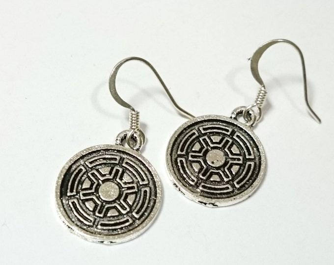 Galactic Empire Imperial Logo Star Wars Silver Dangle Earrings