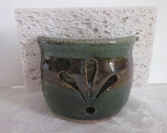 SPONGE HOLDER  With Cut Work Stoneware Pottery