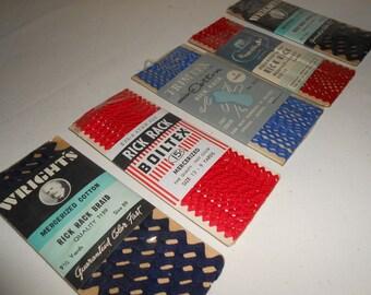 Vintage Rick Rack, Vintage Sewing Trim, Wrights Rick Rack, Boiltex Rick Rack, Sewing Supplies