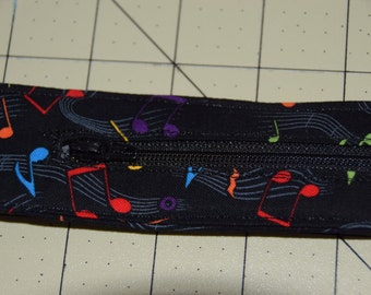 Travel Belt Black with Musical Notes