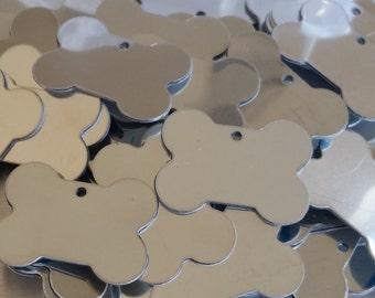 Stainless Dog Bones - 18 gauge - Qty 3,  Dog Tags, Bopper, Key Chain, Metal Stamping Blanks, Etching Blanks, Engraving Blanks