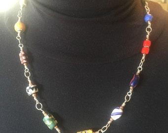 African Trade Bead Necklace #2