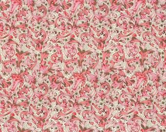 Traditional Florentine Print Italian Paper in Pink Tones ~ Carta Fiorentina Italy  F021