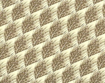 Golden Feathers Florentine Print Italian Paper ~ Rossi Italy  R242G