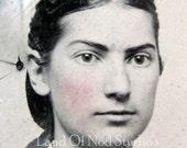 Original  gem Tintype photo IDed Aunt Edith