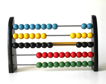 Vintage Wooden Brio Abacus with Primary Colours!