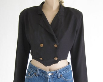Vintage 80's Cropped Blouse