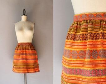 Vintage 1960s Mini Skirt / 60s