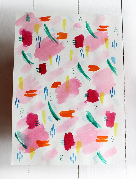 Original watercolor painting Watercolor Patterns 2 by Paula Mills