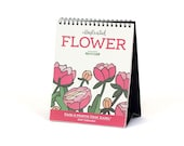 2017 Flowers Desk Easel Calendar