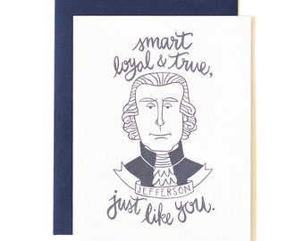 Jefferson Illustrated Card