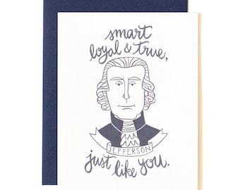 Thomas Jefferson Illustrated Card // 1canoe2