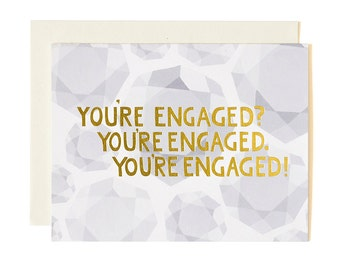 You're Engaged Illustrated Card // 1canoe2