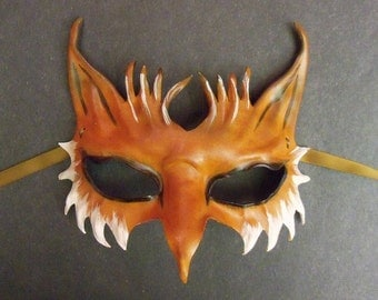 Impish Little Fox Leather Mask  a smaller and very light version of my bigger Fox masks