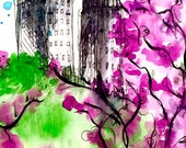 New York City Print of  Watercolor Illustration