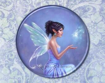 Opalite with Butterflies Pocket Mirror