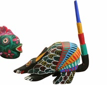 Vintage Oaxaca Animals, Set of 3, All Signed, Juan Fabian Ceuvas