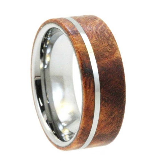 79 Tungsten And Wood Wedding Bands