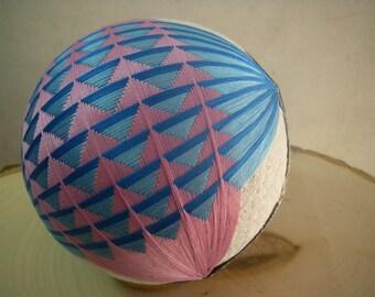 Hand made Temari ball (pink,blue)
