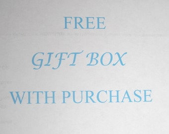 Gift  Boxes Free With Purchase From handcraftusa