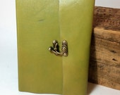 Simple Leather Baby Journal by Binding Bee Indianapolis, Indiana
