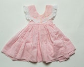 1960's Pink Pinafore Dress Estimated Size 3 to 6 months